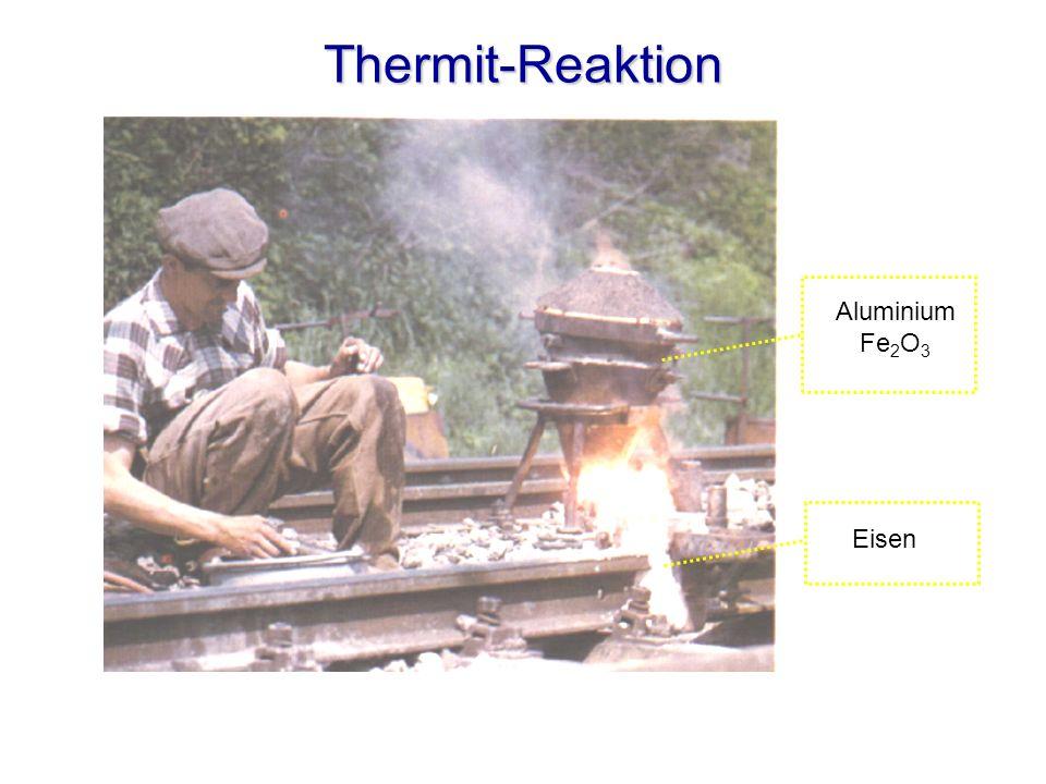 Thermit-Reaktion Aluminium Fe 2 O 3 Eisen