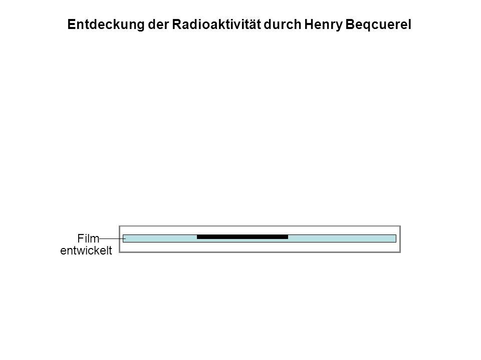 Film Metallkassette, lichtundurchlässig Sonnenlicht Uransalz entwickelt Entdeckung der Radioaktivität durch Henry Beqcuerel