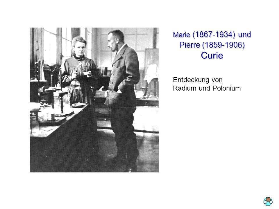 Marie (1867-1934) und Pierre (1859-1906) Curie 1 Tonne Pechblende 0.1 Gramm Radium Entdeckung von Radium und Polonium O