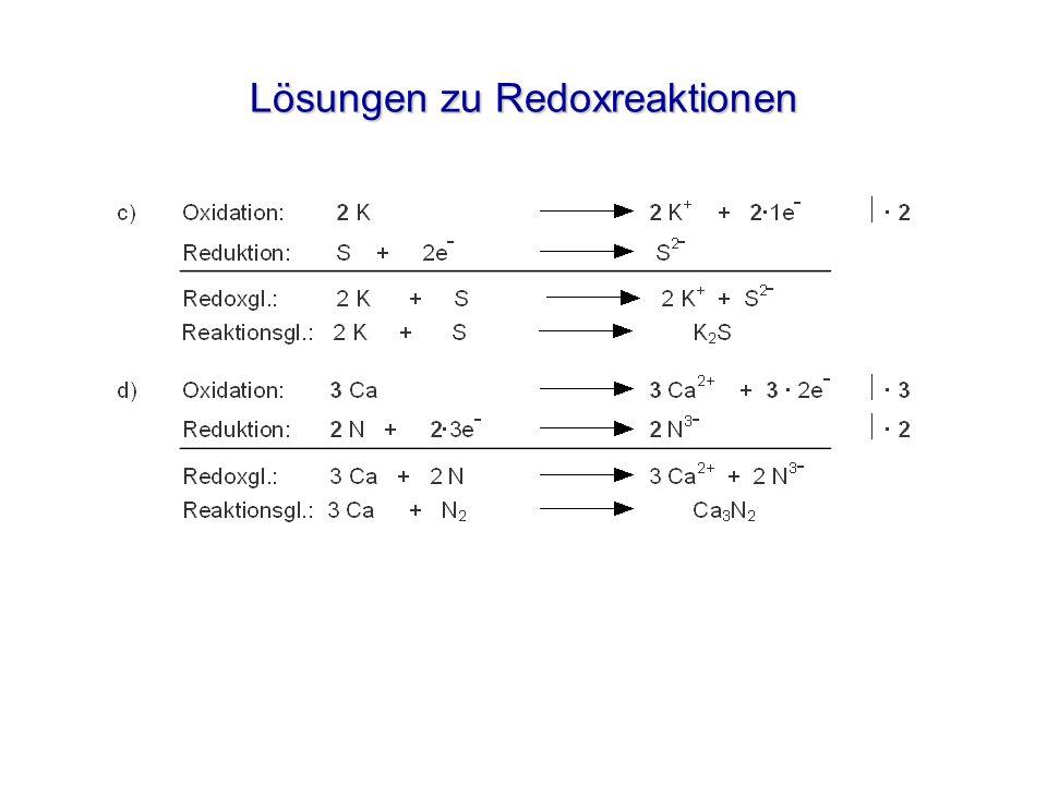 Elektrolyse einer CuCl 2 -Lösung Cu 2+ (aq) Cu(s) Cu 2+ (aq) 2 Cl – (aq)