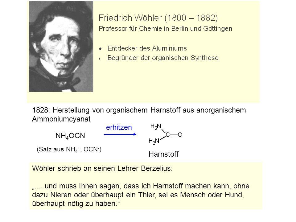 Wöhler schrieb an seinen Lehrer Berzelius:....
