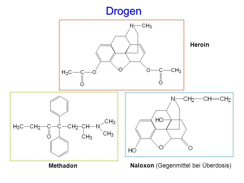 Drogen Heroin Methadon Naloxon (Gegenmittel bei Überdosis)