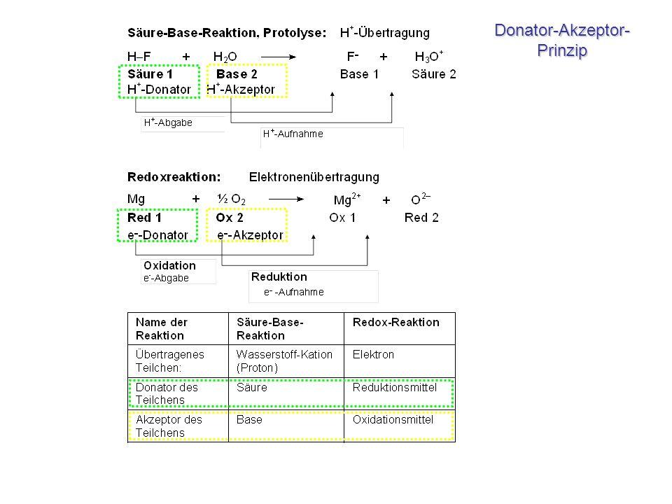 Donator-Akzeptor- Prinzip