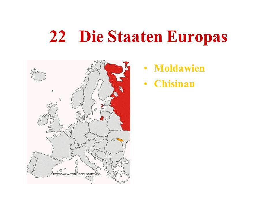22 Die Staaten Europas Moldawien Chisinau
