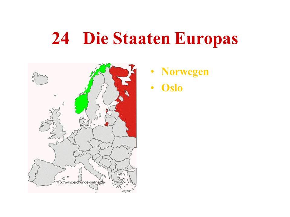 24 Die Staaten Europas Norwegen Oslo