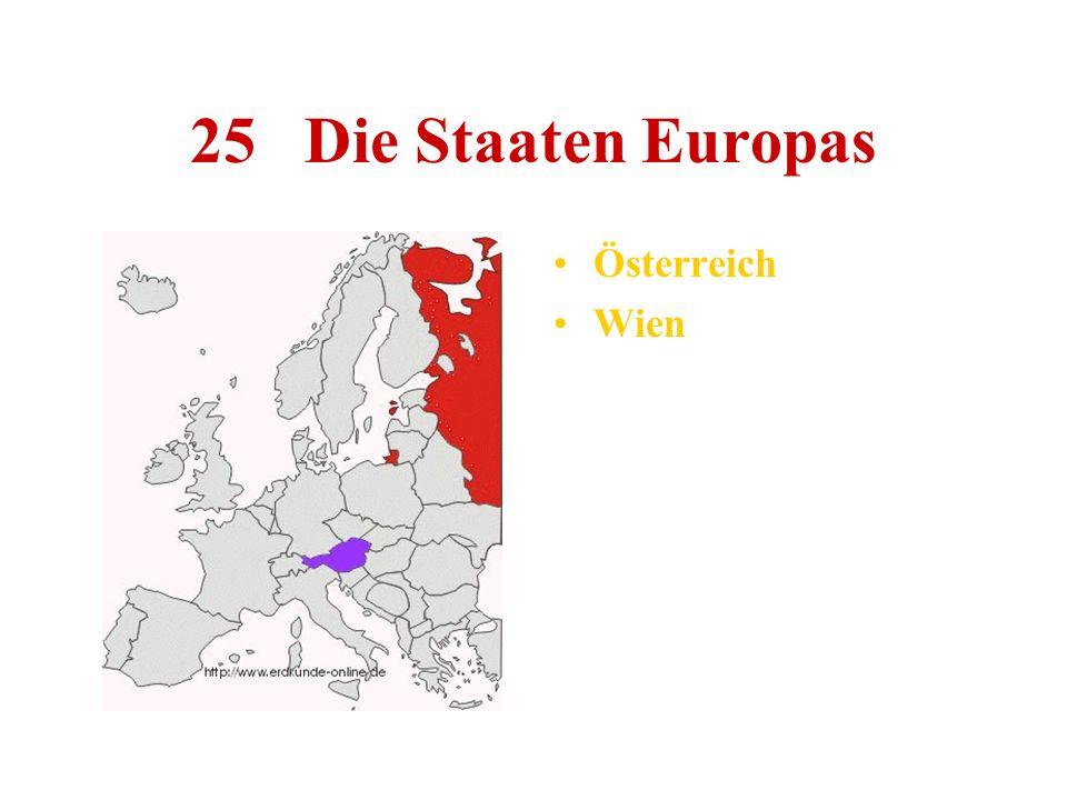 25 Die Staaten Europas Österreich Wien