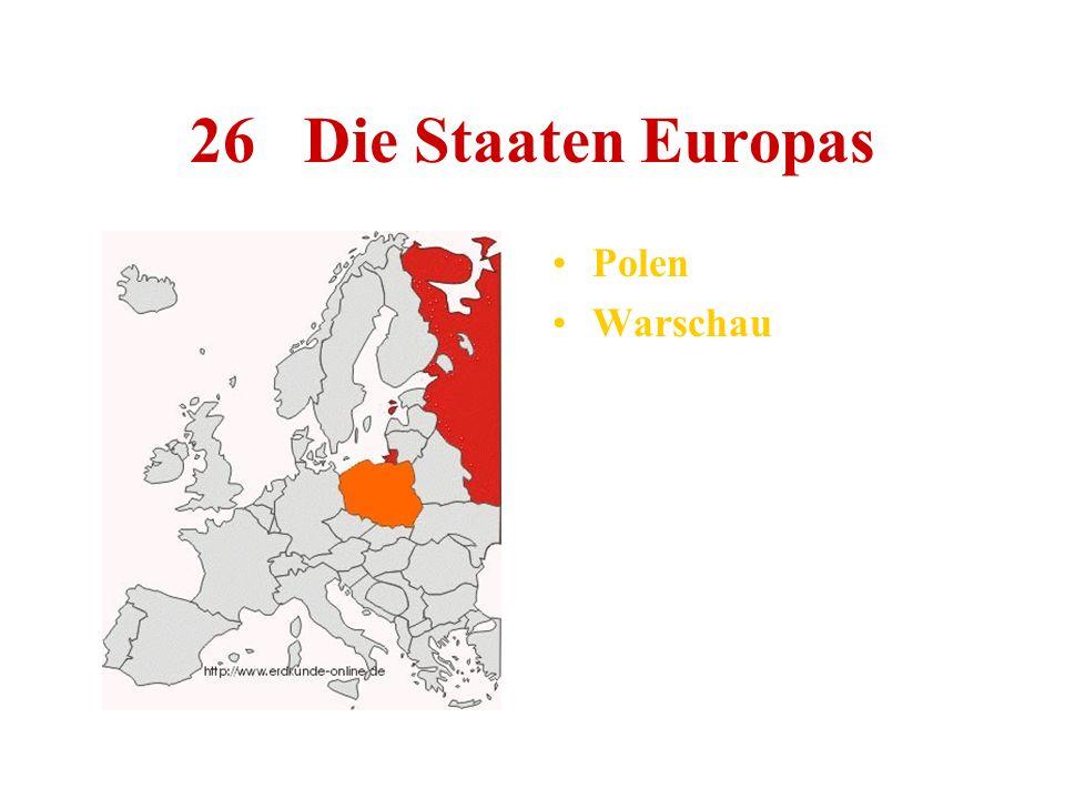 26 Die Staaten Europas Polen Warschau