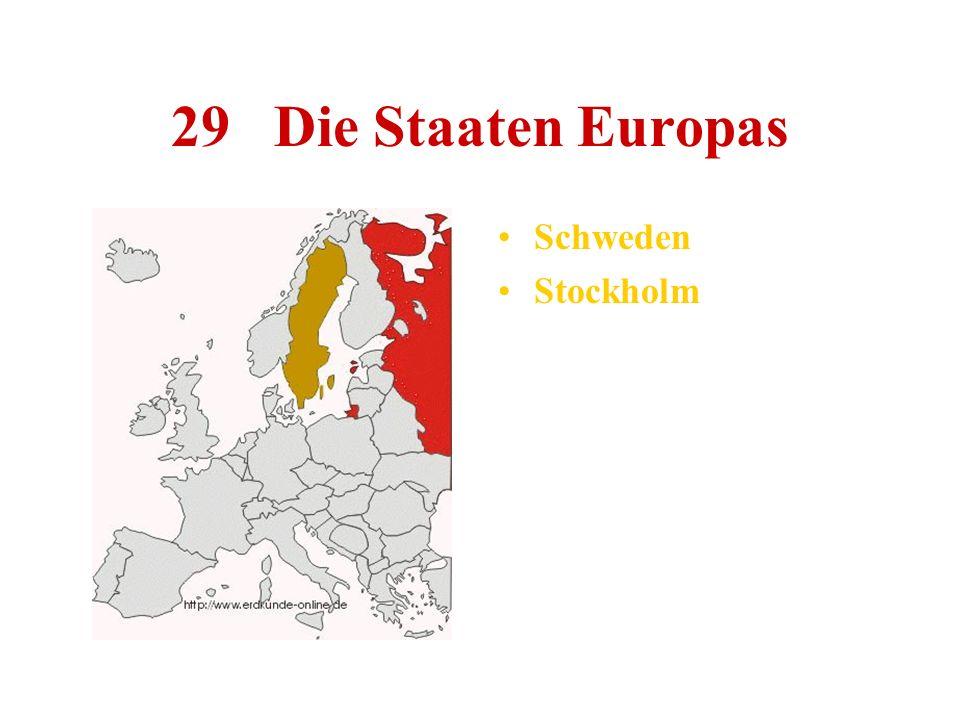 29 Die Staaten Europas Schweden Stockholm