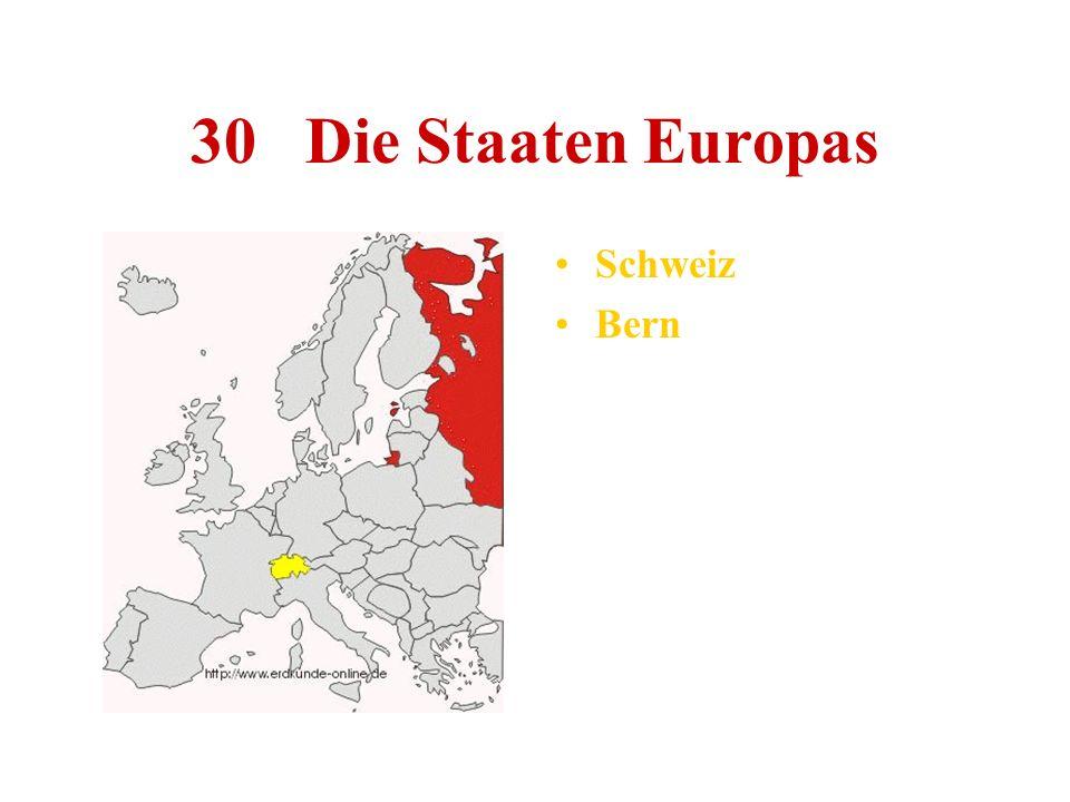 30 Die Staaten Europas Schweiz Bern