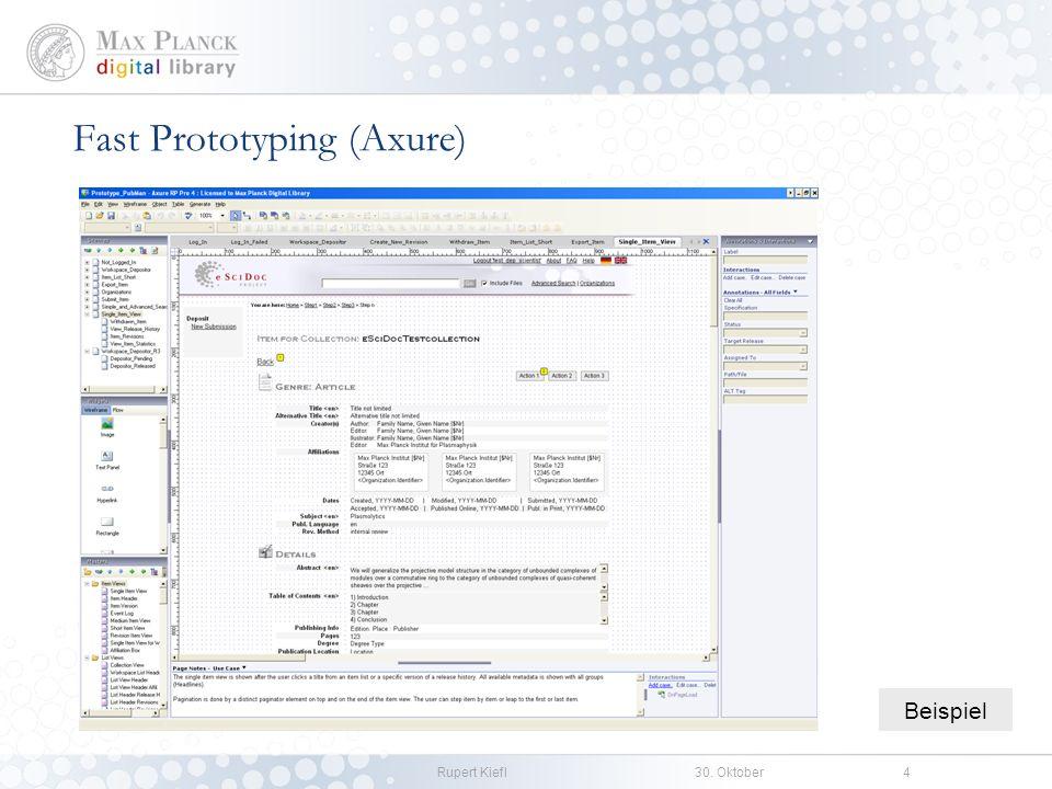 Rupert Kiefl30. Oktober4 Fast Prototyping (Axure) Beispiel