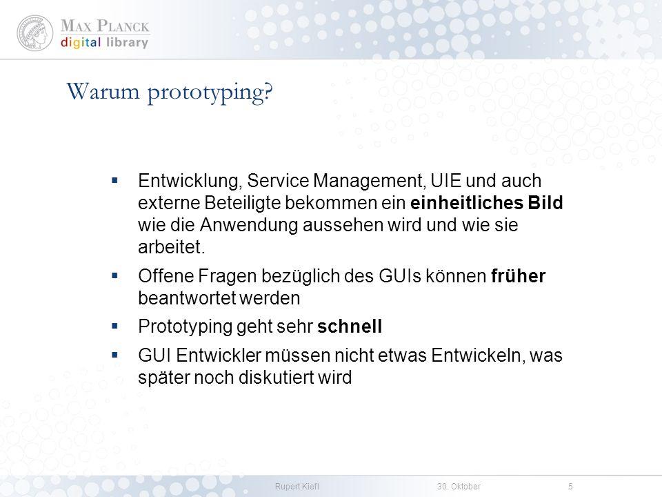 Rupert Kiefl30. Oktober5 Entwicklung, Service Management, UIE und auch externe Beteiligte bekommen ein einheitliches Bild wie die Anwendung aussehen w