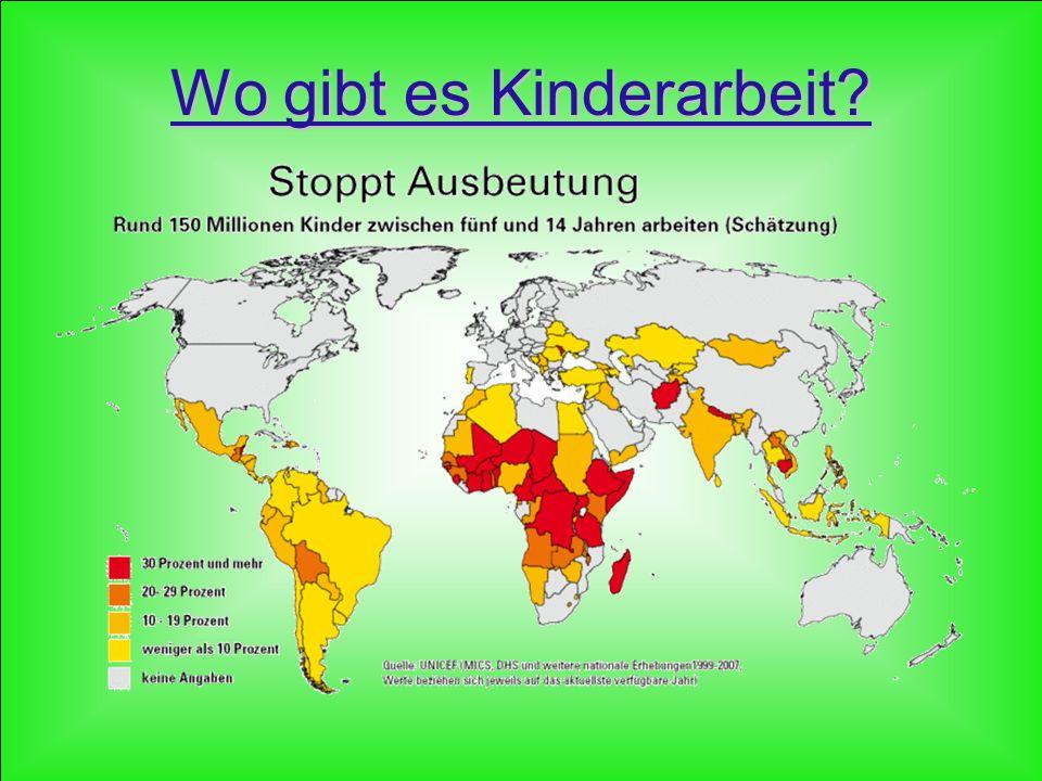 Wo gibt es Kinderarbeit?