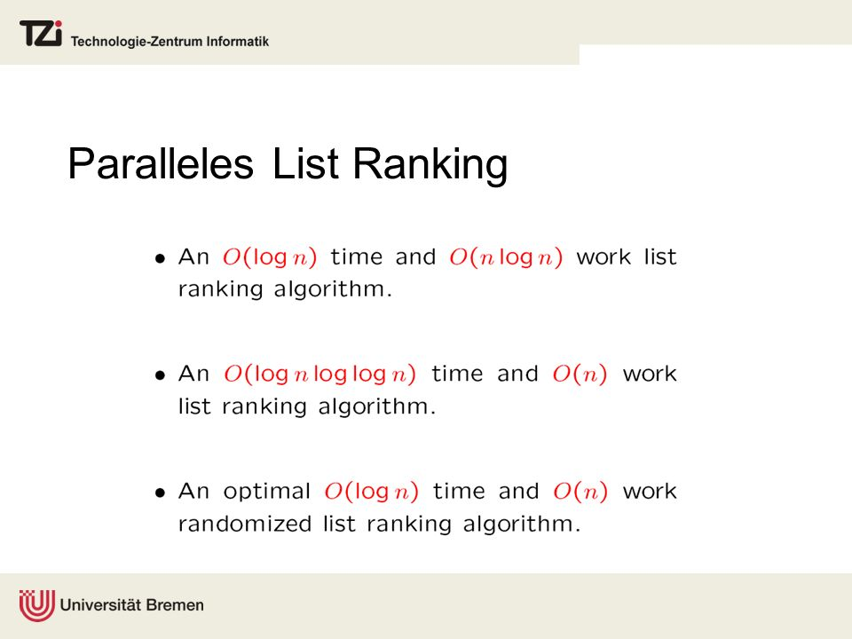 Paralleles List Ranking