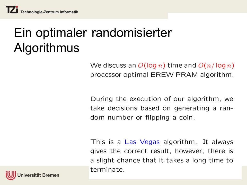 Ein optimaler randomisierter Algorithmus
