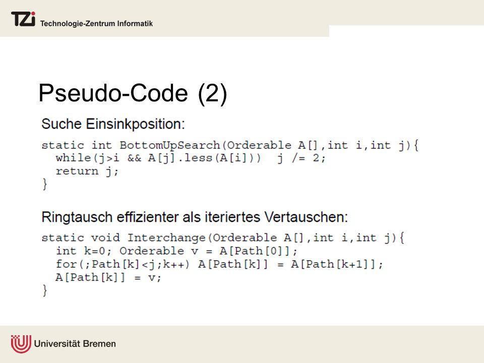 Pseudo-Code (2)