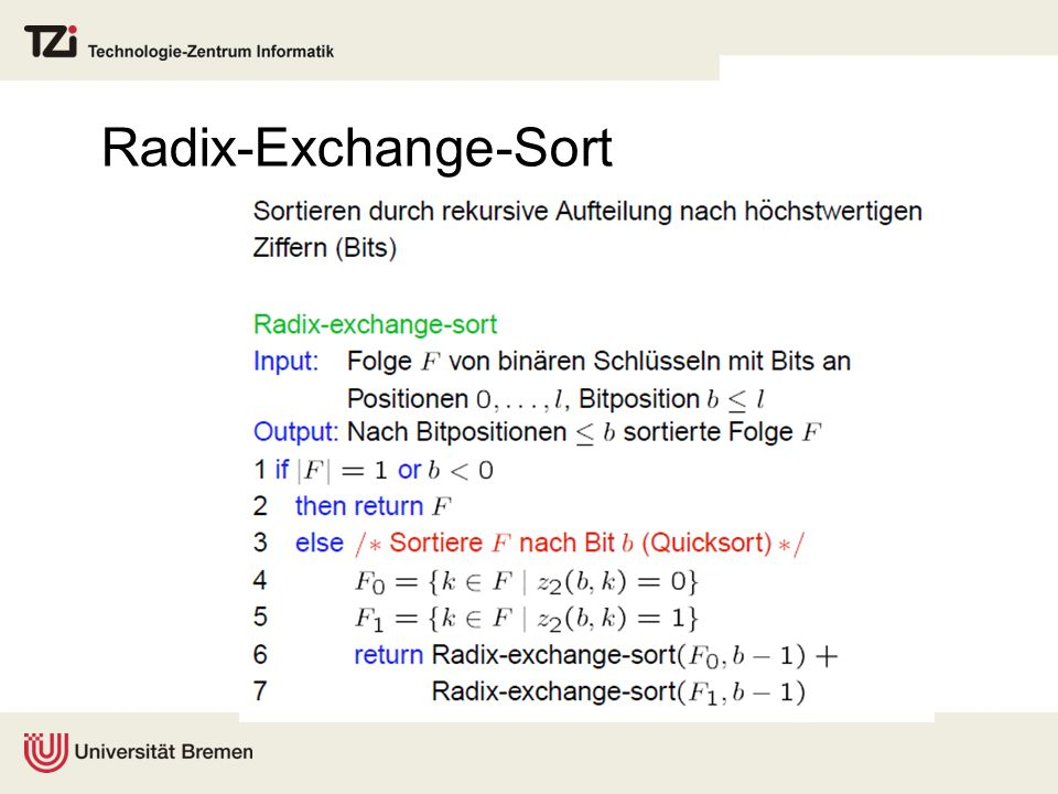 Radix-Exchange-Sort