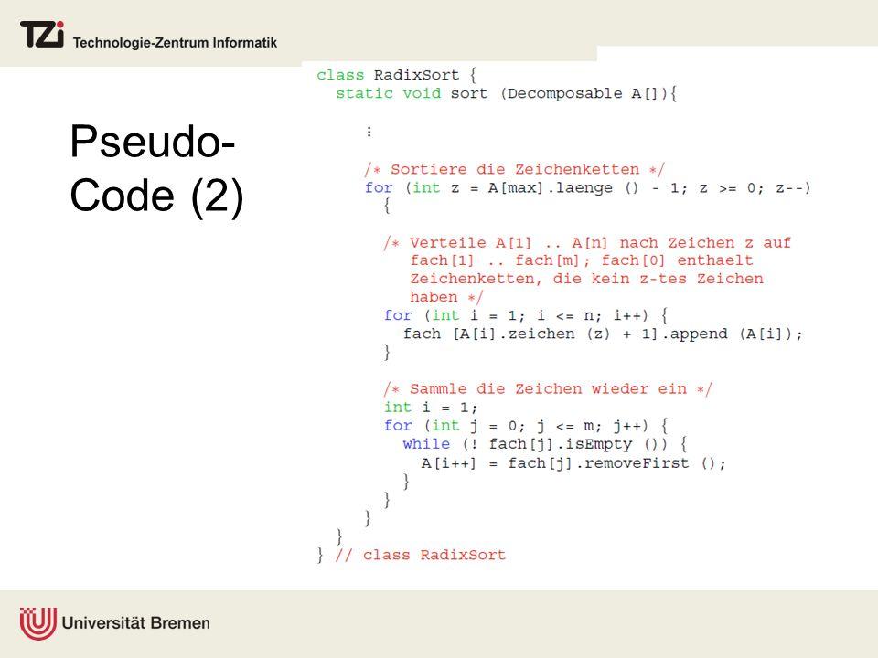 Pseudo- Code (2)