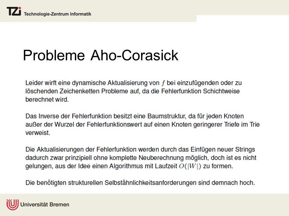 Probleme Aho-Corasick