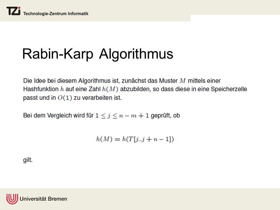 Rabin-Karp Algorithmus