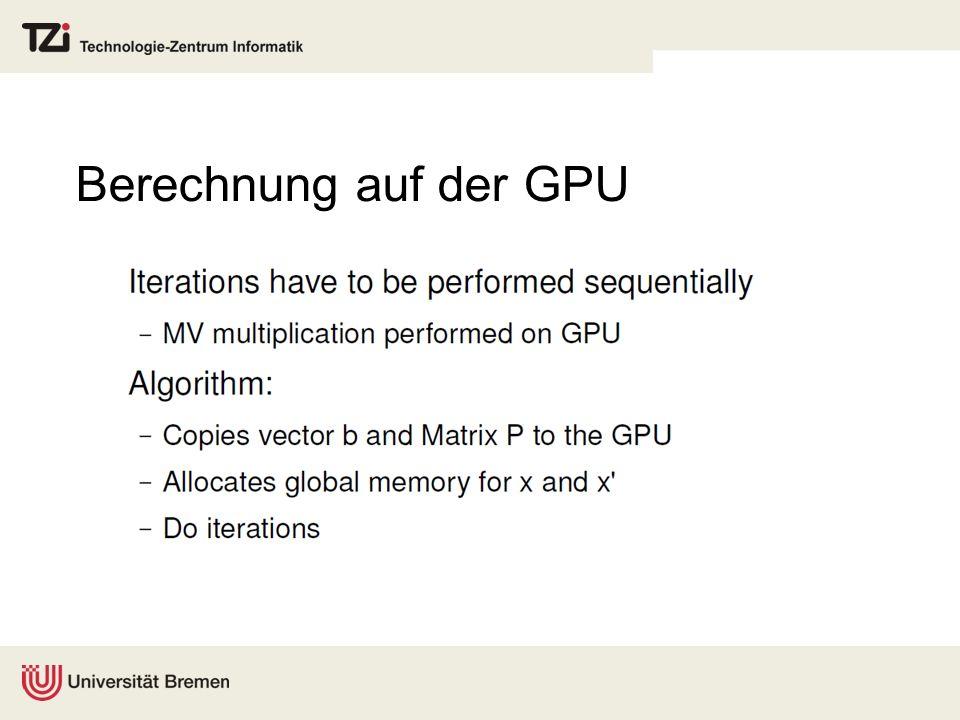 Berechnung auf der GPU