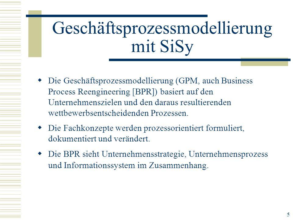 5 Die Geschäftsprozessmodellierung (GPM, auch Business Process Reengineering [BPR]) basiert auf den Unternehmenszielen und den daraus resultierenden w
