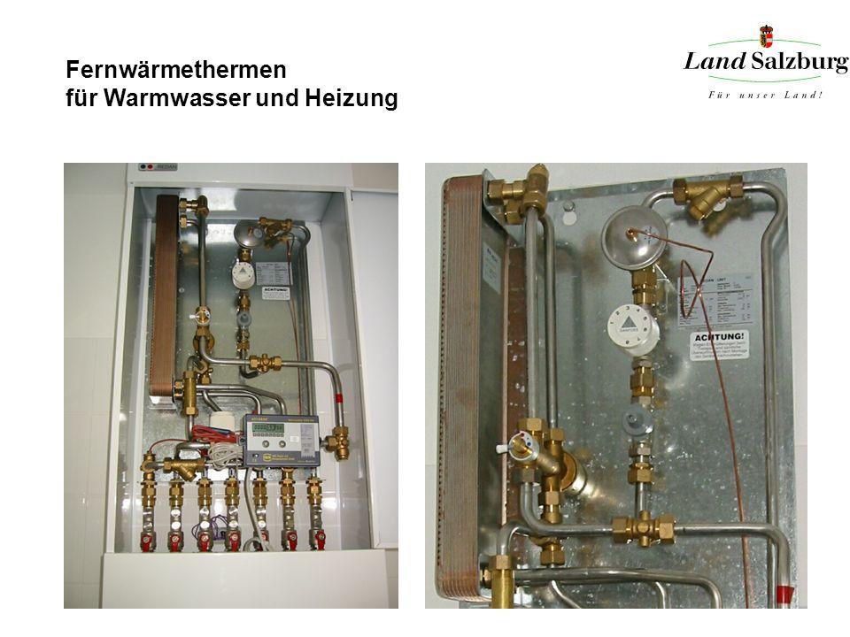 Fernwärmethermen für Warmwasser und Heizung