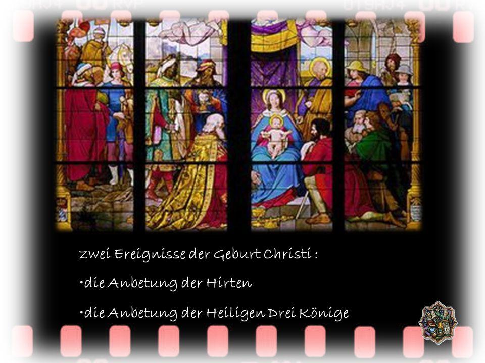 zwei Ereignisse der Geburt Christi : die Anbetung der Hirten die Anbetung der Heiligen Drei Könige