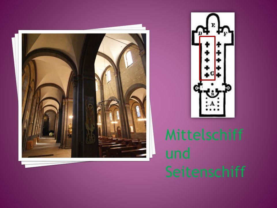 Mittelschiff und Seitenschiff