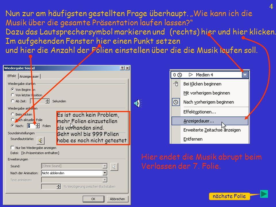 14 nächste Folie Wav-Datei Verkleinern: …die entsprechende Datei markieren und auf Öffnen klicken.