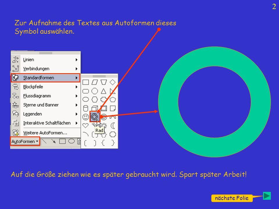 3 Dann über dieses Symbol Wordart aufrufen Dieses Fenster erscheint und dort diese Schrift mit Doppelklick auswählen.