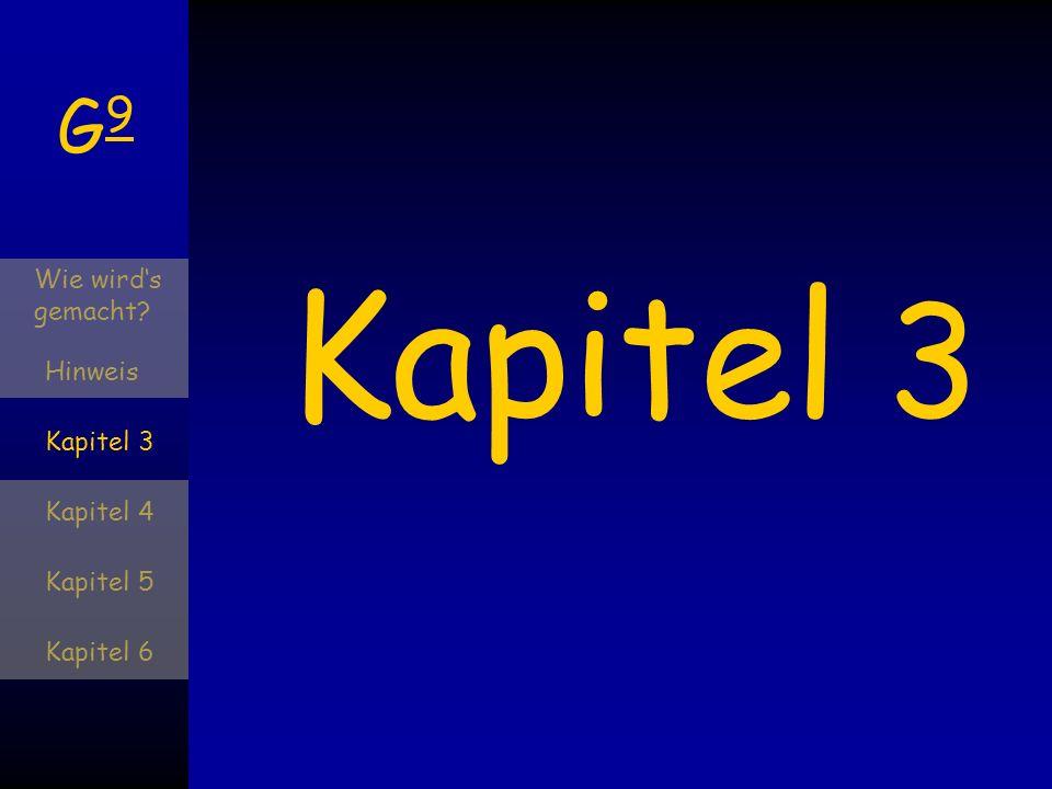 G9G9 Wie wirds gemacht? Hinweis Kapitel 3 Kapitel 4 Kapitel 5 Kapitel 6 Kapitel 4