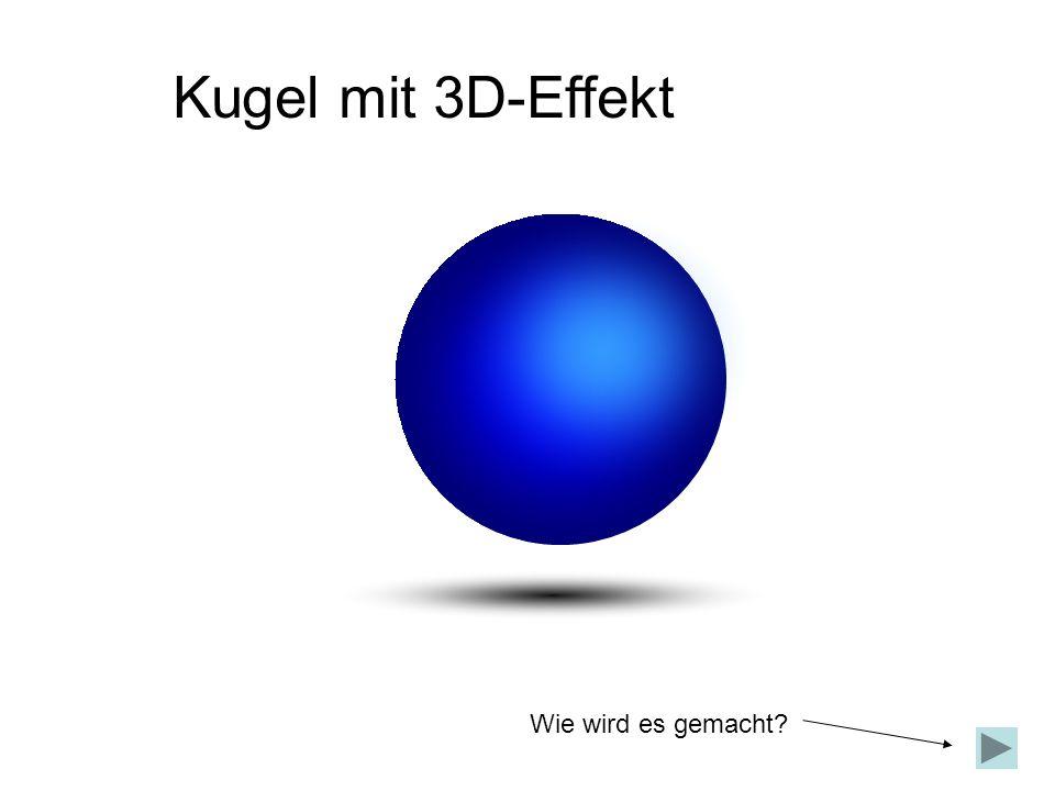 Kugel mit 3D-Effekt Wie wird es gemacht?