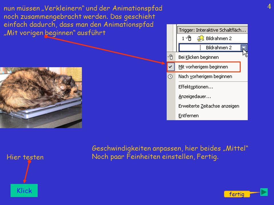 5 nächste Folie Klick Ende Exit Weiter Klick Exit Der Folienübergang muss abgestellt sein, damit beim Danebenklicken nicht ungewollt etwas ausgelöst wird.