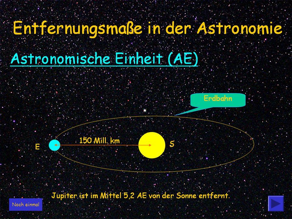 3 Entfernungsmaße in der Astronomie 3,26 Lichtjahre = 3,1x10 12 km oder 206.256 AE 150 Mill.