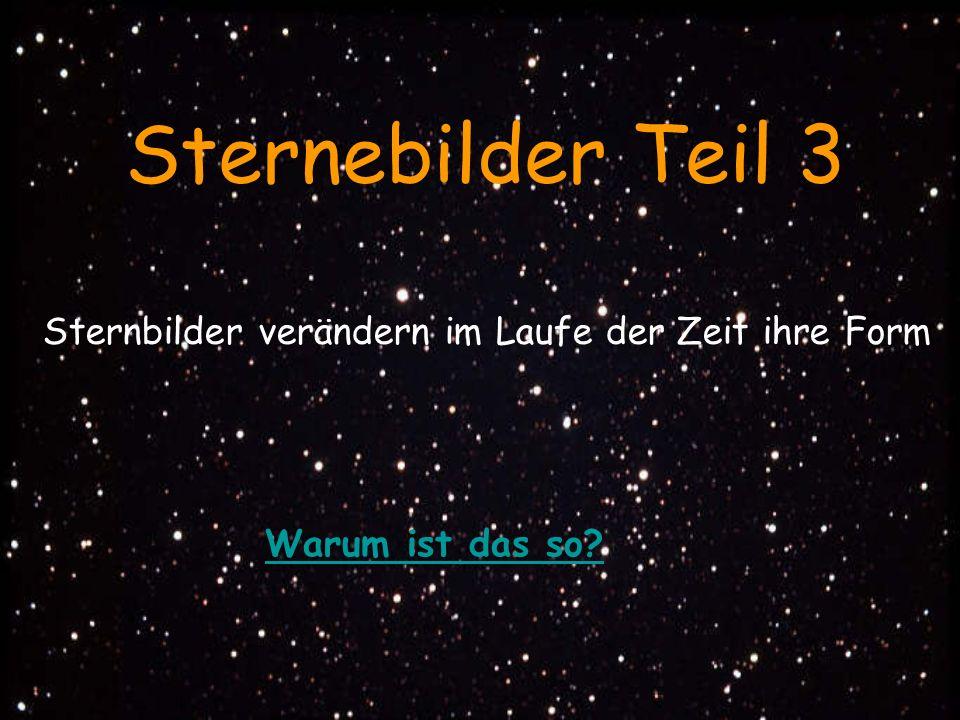 Ein Sternbild vor 100.000 Jahren; welches?Das gleiche Sternbild Heute; erkannt.
