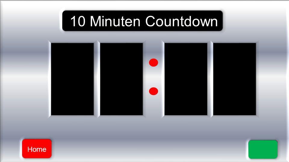 Powerpoint 2010 Funker Die folgenden Folien enthalten je einen Zähler der im Sekundentakt Rückwärts zählt. Einmal 10 Minuten, 5 Minuten und 1 Minute.