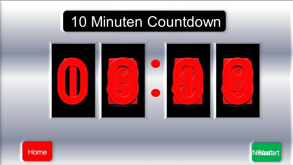 10 Minuten Countdown Home