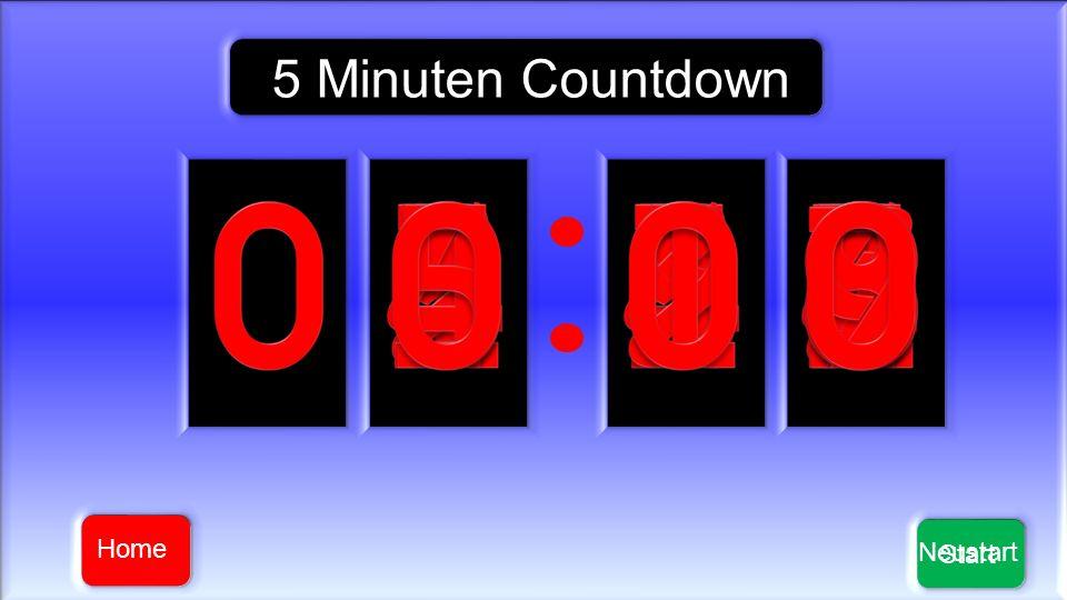 Start 5 Minuten Countdown Neustart Home