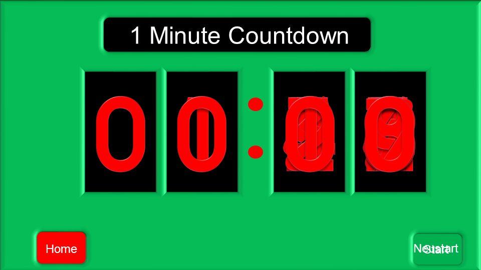 Home Neustart Start 1 Minute Countdown