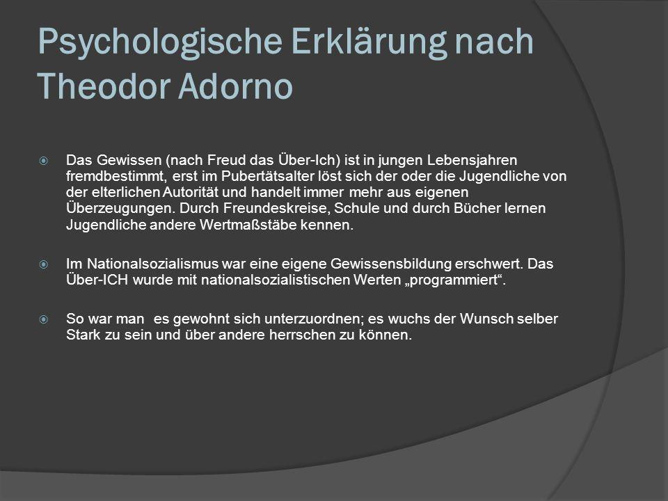 Psychologische Erklärung nach Theodor Adorno Identifikation mit dem Aggressor bezeichnet in der Tiefenpsychologie einen Abwehrmechanismus, bei dem eine Person, die von einem Aggressor körperlich und/oder emotional misshandelt oder unterdrückt wird, sich unbewusst mit ihm identifiziert.
