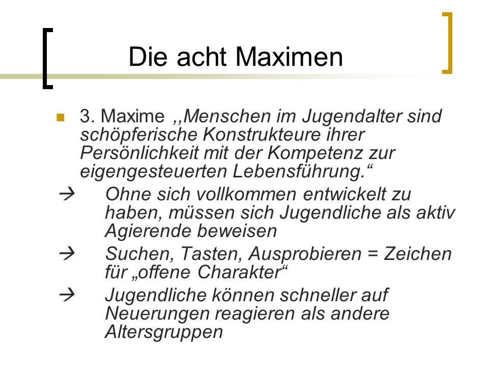 Die acht Maximen 3.