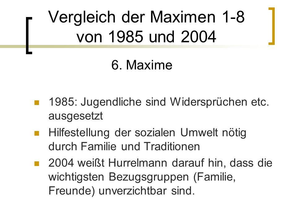 1985: Jugendliche sind Widersprüchen etc.