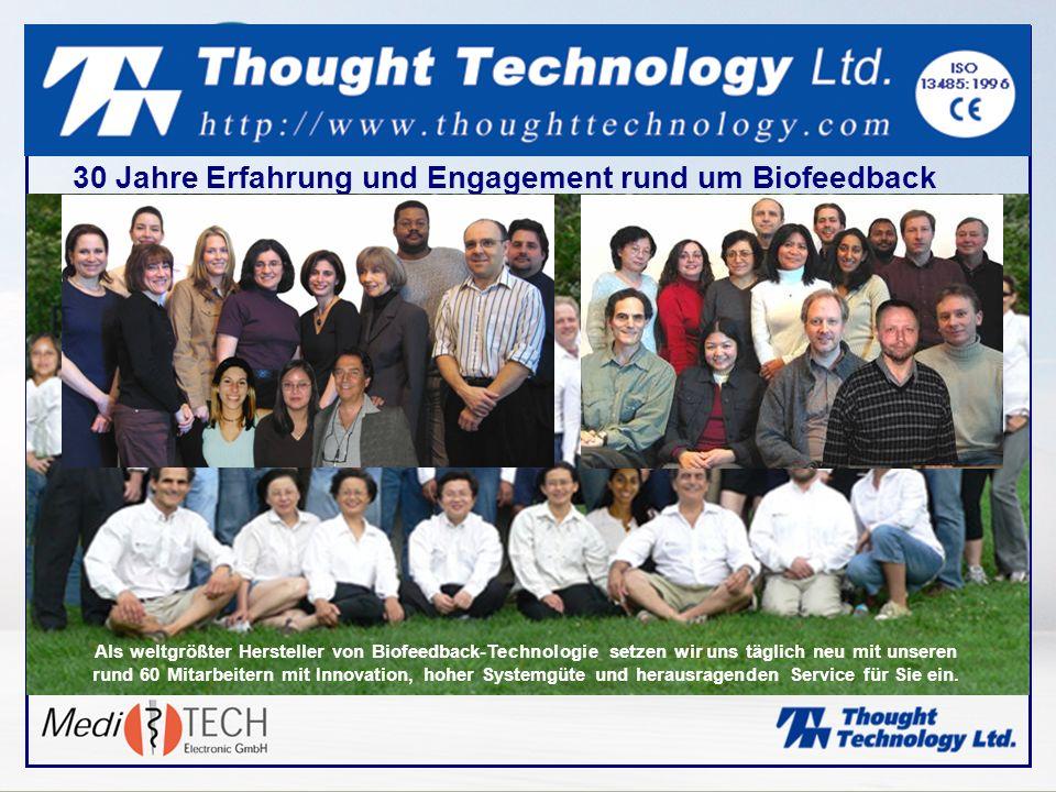 30 Jahre Erfahrung und Engagement rund um Biofeedback Als weltgrößter Hersteller von Biofeedback-Technologie setzen wir uns täglich neu mit unseren ru