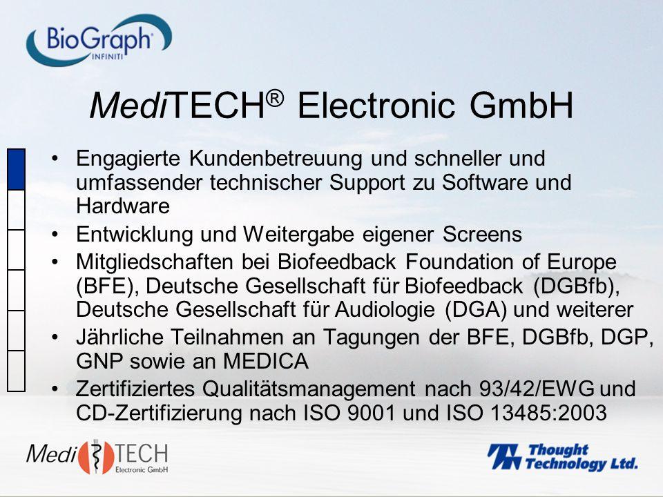 MediTECH ® Electronic GmbH Engagierte Kundenbetreuung und schneller und umfassender technischer Support zu Software und Hardware Entwicklung und Weite