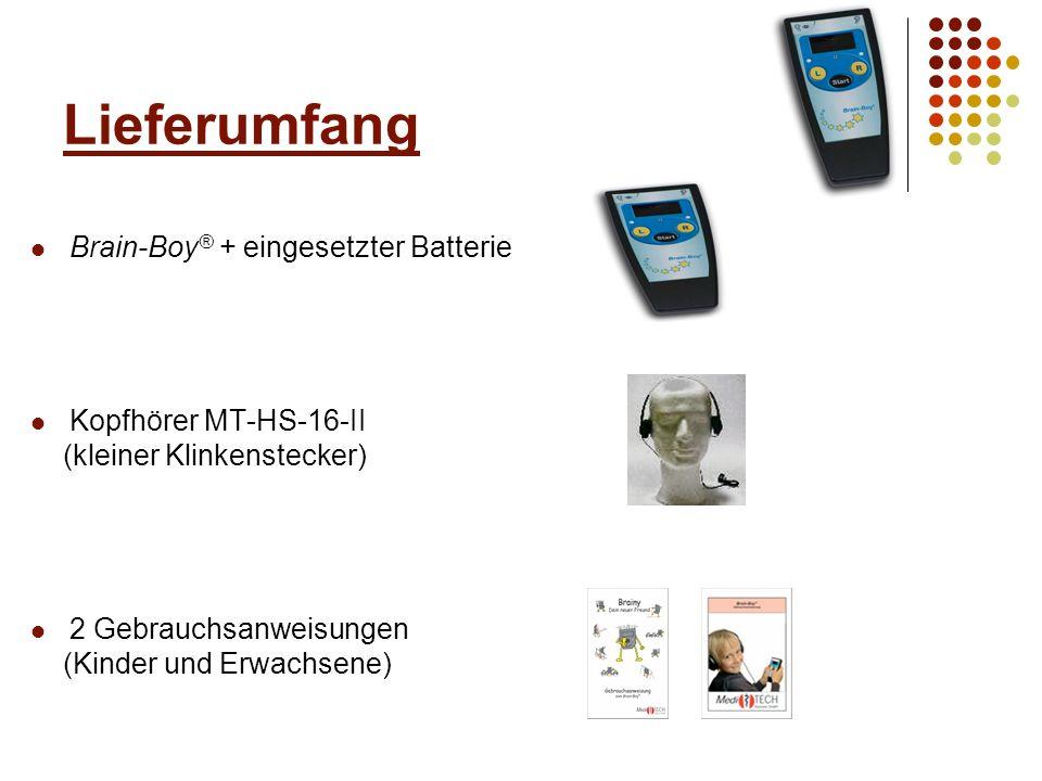 Optionales Zubehör für den Brain-Boy ® Schaumstoffhalterung für Brain-Boy ® (Art.
