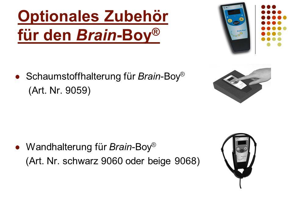 Optionales Zubehör für den Brain-Boy ® Akku Ladegerät inkl.