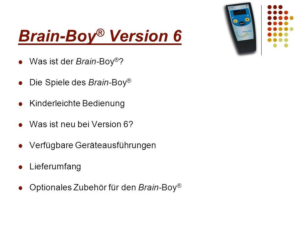 Was ist der Brain-Boy ® Der Brain-Boy ® ist ein Trainings-Gerät, mit dem die Einzelbausteine der zentralen Wahrnehmung trainiert werden können.