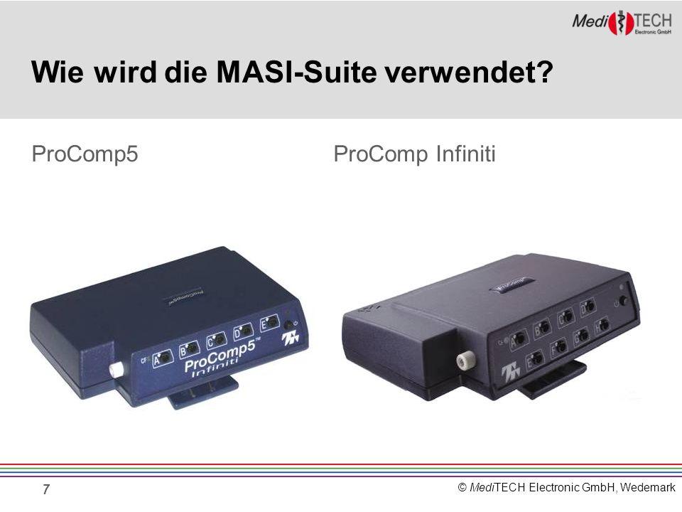 © MediTECH Electronic GmbH, Wedemark MASI-Suite – Aufbau mit EEG-Z- Sensor Die MASI-Suite wird mit dem EEG-Z-Sensor als Hauptsensor verwendet.