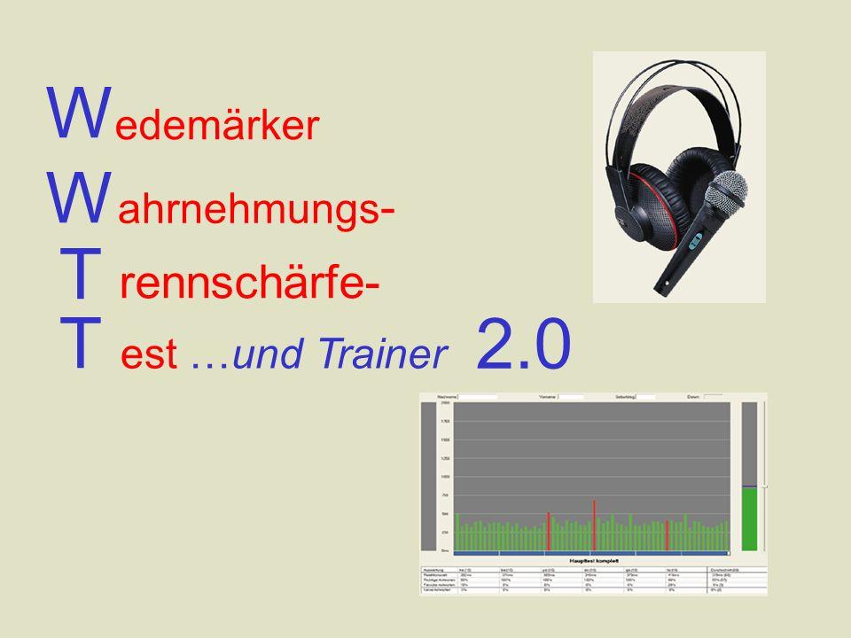 W ahrnehmungs - rennschärfe- edemärker W T T est …und Trainer 2.0