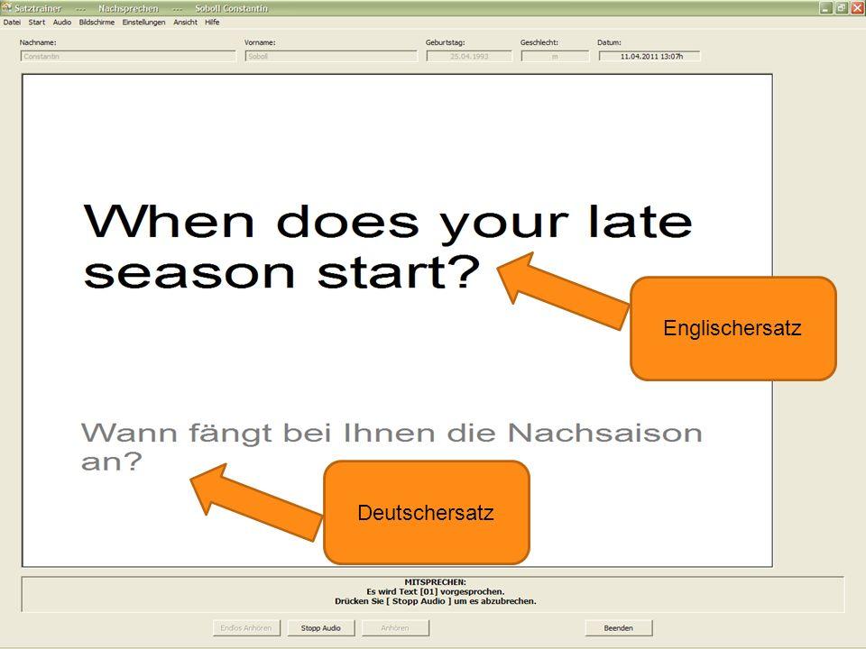 Englischersatz Deutschersatz